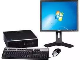 OFERTA PC ALTA GAMA Core i3 DDR3 CON MONITOR 17 TECLADO MASUO GARANTÍA