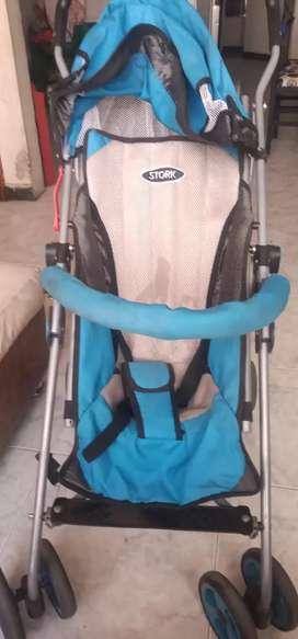 Coche paseador reclinable para bebé