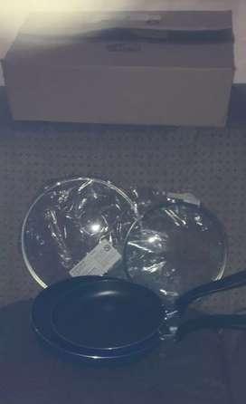 Pailas antiadherentes con tapa de vidrio