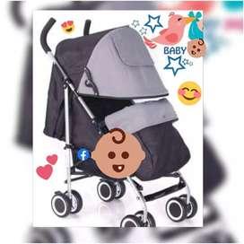 Coche baston y maletin de bebe