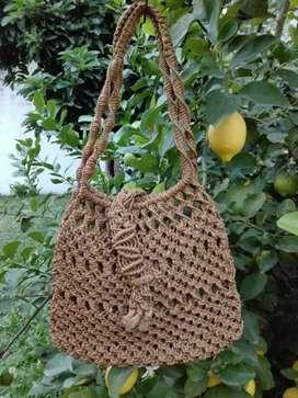BOLSO artesanal tejido de yute