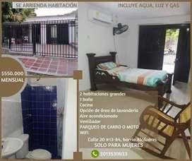 Se arrienda habitación por Universidad Sergio arboleda, Alcázares.