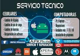 Servicio técnico de celulares, tablets, Pc y laptops.