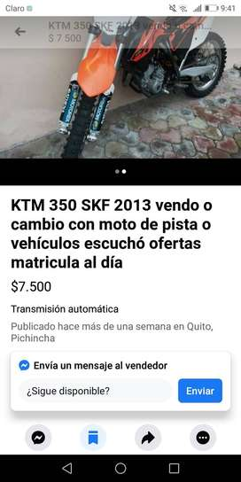 Se vende moto ktm 2013 ven do o canvio por auto