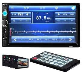 Radio Tipo Pioneer Pantalla Tactil 7 Pulgadas Bluetooth MP3 Radio USB 2 Din