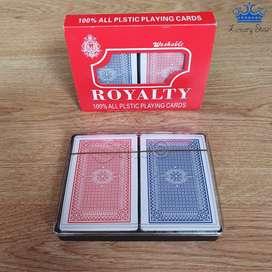 Juego Cartas Royal Poker Baraja Naipes Plástico Alta Calidad