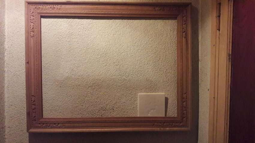 marcos tallados a mano en madera natural p/cuadros,espejos 0