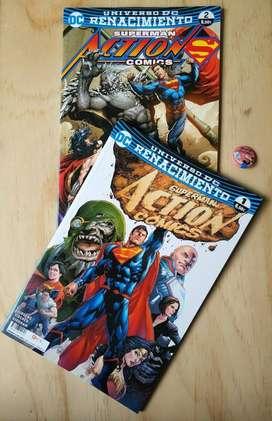 Superman Action comics Renacimiento numero 1 y 2 nuevos