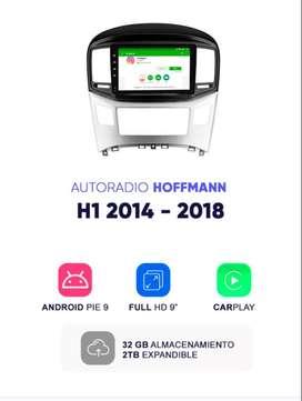 Autoradio Hoffmann Homologado Hyundai H1 2014 - 2018 10″ CarPlay Android 9.1