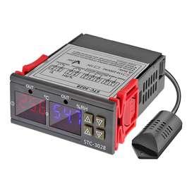 Controlador de Temperatura y Humedad stc 3028 Higrometro Higrostato Incubadora Terrario