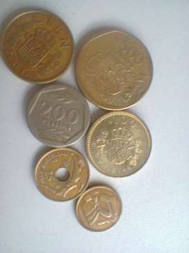 Lote Monedas Antiguas España/ lote x 6 ! Impecables!