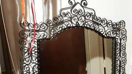 Espejo marco hierro forjado artesanal