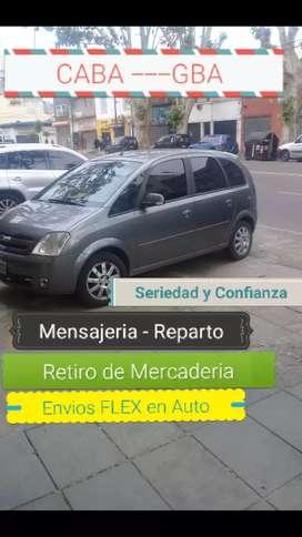 Mensajeria - Envios Flex con Auto CABA Y GBA