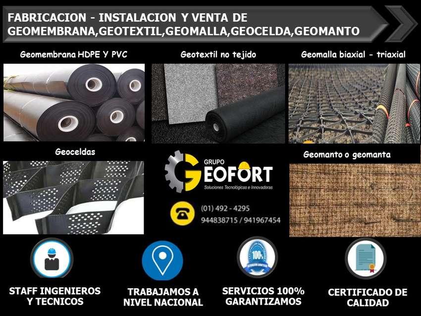VENTA E INSTALACION DE GEOTEXTIL DESDE 200 hasta 1000 gr, geomembrana,geocelda,geodren, certificado , Geofort 0