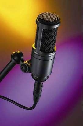 Micrófono de condensador AT 2020, Audio Técnica, estado 10/10