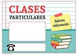 CLASES PARTICULARES/CONTROL DE TAREAS/REFUERZOS