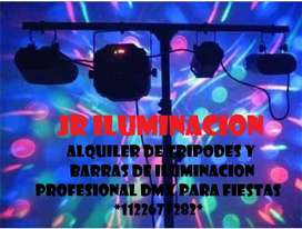 Iluminación DMX profesional para Fiestas y Eventos Privados.