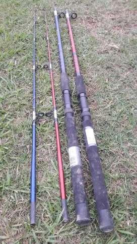Cañas de pesca sin uso lo compre y no lo use