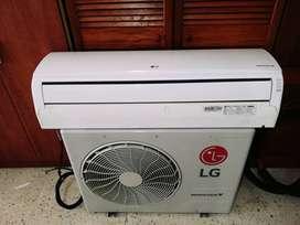 Aire acondicionado marca LG de 24.000 BTU/h Tecnología Inverter, Como nuevo