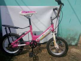 bicicleta para niña con llanticas de soporte