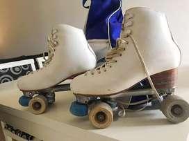 Vendo patines profesionales Trevi talle 38 + mochila para llevar