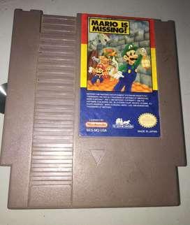 Juego Nintendo Nes Mario is missing