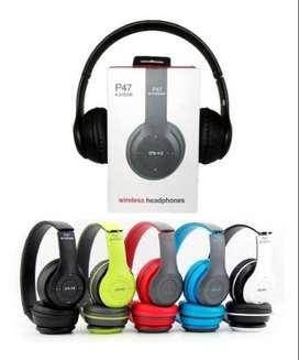 Auriculares Bluetooth Vincha Mic Sd Radio Fm Inalambrico P47