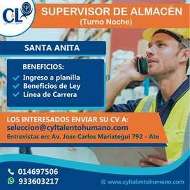 Se requiere Supervisor de Almacén/ Santa Anita