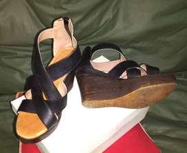 Vendo sandalias negras Num 37