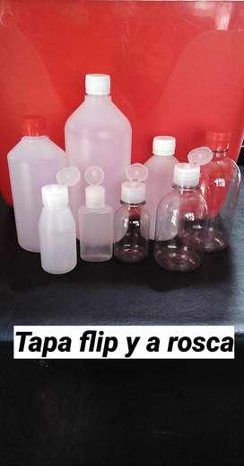 Envases plásticos, tapa flip top y mas
