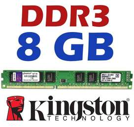 Memoria Ram Ddr3 De 8gb Kingston Sector Parque Ejido