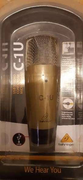 Microfono de condensador interfaz usb