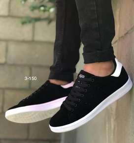 Zapato Tennis Deportivo Adidas Stan Smith En Carnaza Para Hombre
