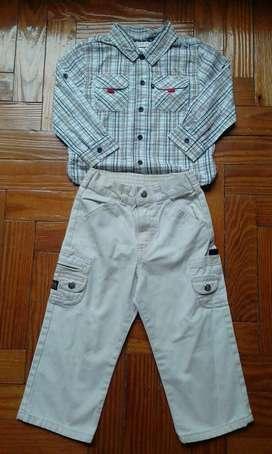 Camisa Y Pantalon Wrangler de Niño T4