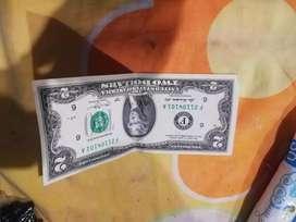 Billetes de 2$ Para COLECCIÓN