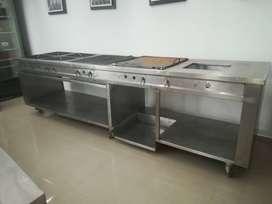 Cocina Industrial en acero inoxidable para Restaurante