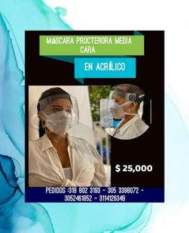 Mascara Protectora Media Cara en Acrilico.