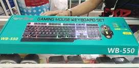COMBO gamer teclado rgb + mouse rgb