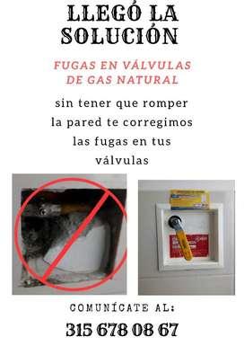 Corrección de Fugas en Válvulas de Gas