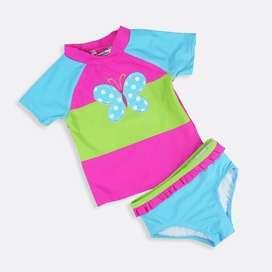 Vestido baño bebé mariposa