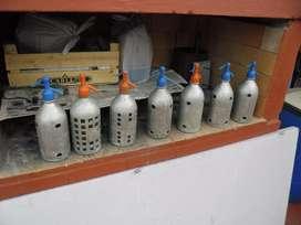 Sifones Antiguos de Aluminio
