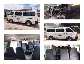 Se vende microbus Nissan Urban capacidad 14 personas