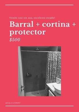 Barral con cortina silicona y protector