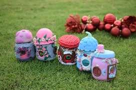 Mini casas de porcelana fría