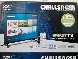 TV 32 PULGADAS MARCA CHALLENGER SMART TV CON TDT INCLUIDO