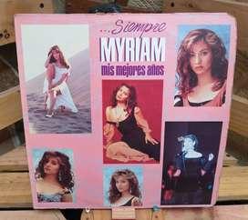 Vinilo Long Play Lp Dísco Acetato Pasta Vinyl Discos Myriam Hernández Siempre Mis Mejores Años