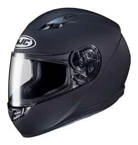 Casco moto  Hjc flat Black talle M