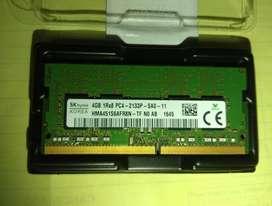 MEMORIA RAM (LAPTOP) SODIMM DDR4 4GB 2133Mhz segunda mano  Perú