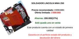 Soldador Lincoln mma 250