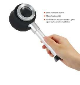 Lupa LED de mano 30X con estuche
